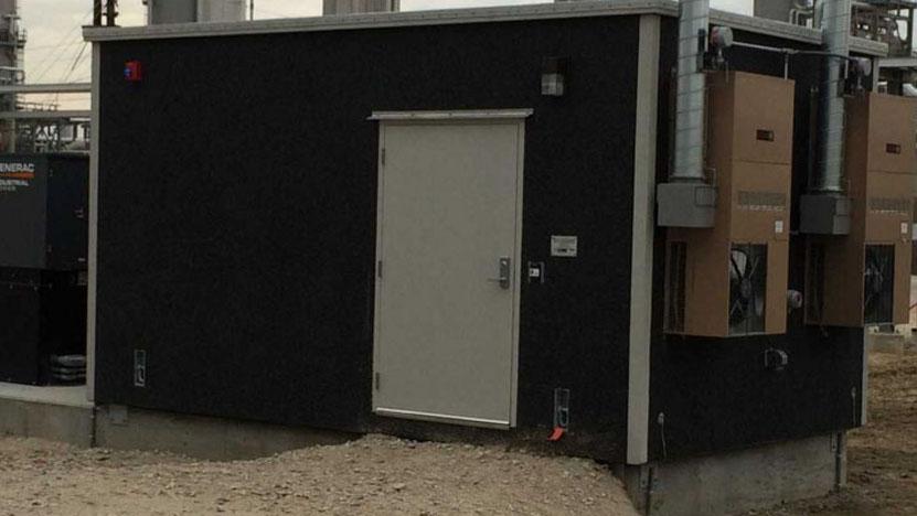 "11'8"" x 18' Communications Hut with Hazard Accessories"